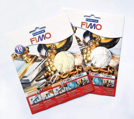 Set foite metal Fimo auriu - FMF11